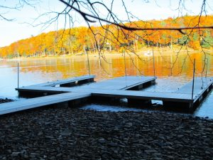 Residential double slip aluminum dock from lakeside Dock Sales in Maryland